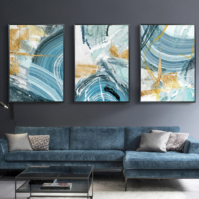 Modern Abstract Canvas Painting Poster