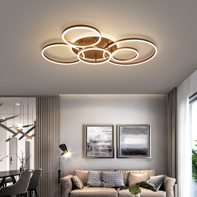 Modern Led Circle Rings Ceiling Lights, Contemporary Living Room Ceiling Lights Uk